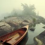 Skiff in Fog